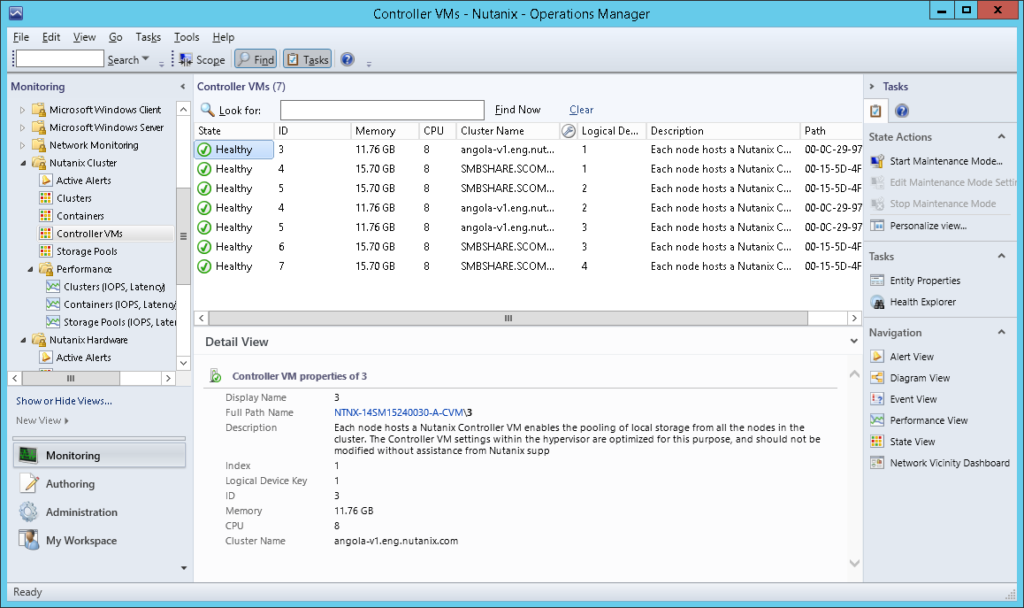 SCOM07 Nutanix SCOM Management Pack
