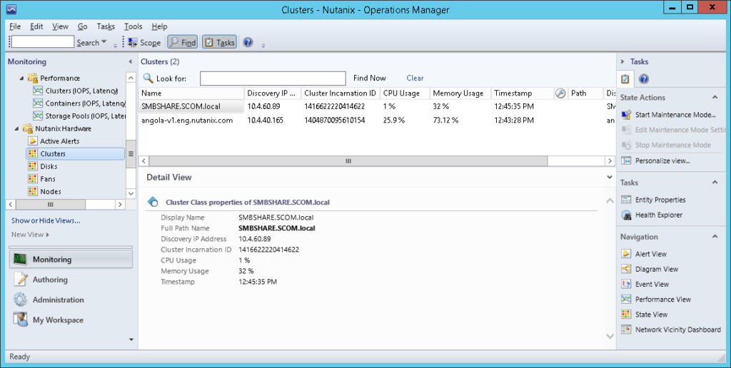 SCOM09 Nutanix SCOM Management Pack