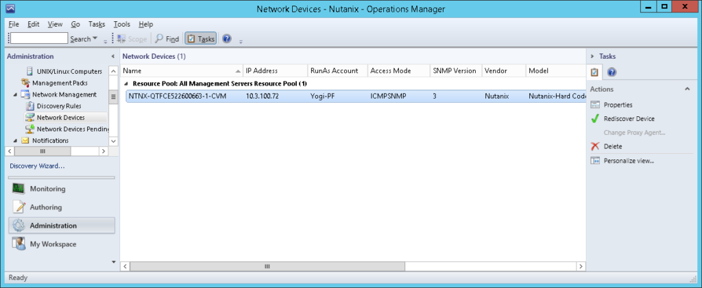 SCOM19 Nutanix SCOM Management Pack