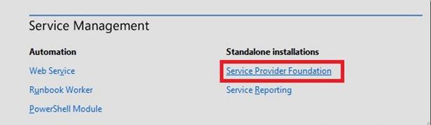 spf2 Service Provider Foundation