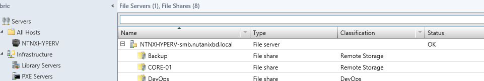 vmmshares Windows Azure Pack
